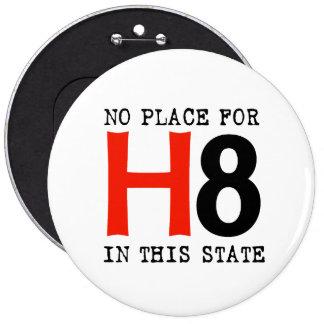 Ningún lugar para H8 Pin Redondo De 6 Pulgadas