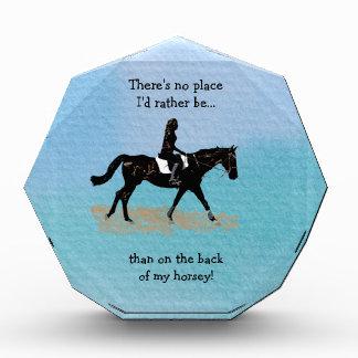 Ningún lugar sería bastante - caballo ecuestre