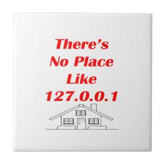 ningún lugar tiene gusto a casa azulejo cuadrado pequeño