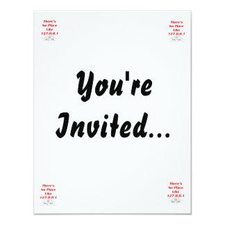 ningún lugar tiene gusto a casa invitación 10,8 x 13,9 cm