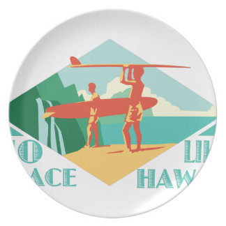 Ningún lugar tiene gusto de Hawaii Platos De Comidas