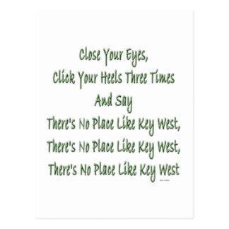 Ningún lugar tiene gusto de Key West copy.jpg Postal