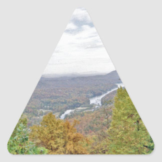 Ningún lugar tiene gusto de la roca de la chimenea pegatina triangular
