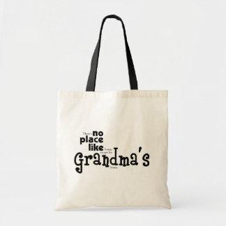 Ningún lugar tiene gusto del bolso de la abuela bolsa tela barata