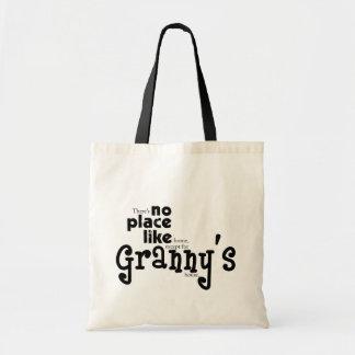 Ningún lugar tiene gusto del bolso de la abuelita bolsa tela barata