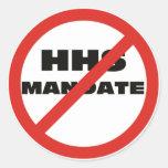 Ningún mandato de HHS Etiquetas Redondas