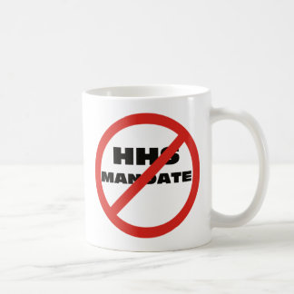 Ningún mandato de HHS Tazas De Café