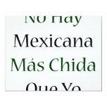 Ningún Mas Chida Que Yo de Mexicana del heno Invitación 10,8 X 13,9 Cm