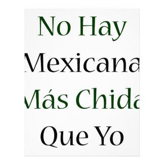 Ningún Mas Chida Que Yo de Mexicana del heno Plantilla De Membrete