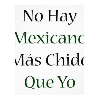 Ningún Mas Chido Que Yo de Mexicano del heno Membrete