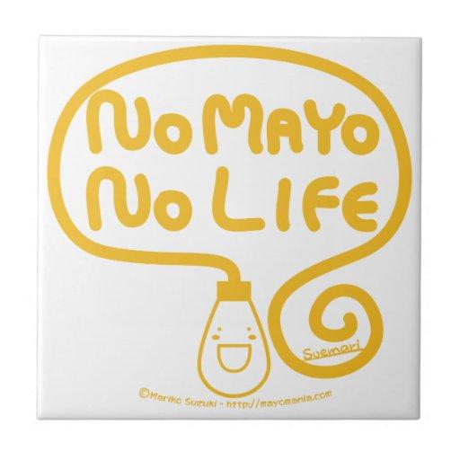Ningún Mayo ninguna vida Azulejo Cuadrado Pequeño