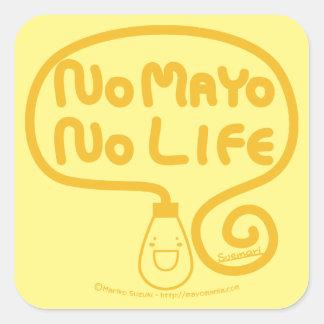 Ningún Mayo ninguna vida Calcomanía Cuadradase