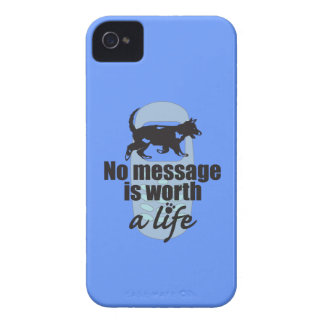 Ningún mensaje vale una vida iPhone 4 Case-Mate protectores