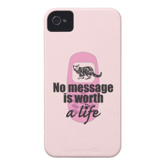 Ningún mensaje vale una vida iPhone 4 Case-Mate cárcasas