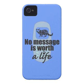 Ningún mensaje vale una vida Case-Mate iPhone 4 fundas