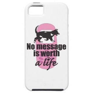 Ningún mensaje vale una vida iPhone 5 carcasas