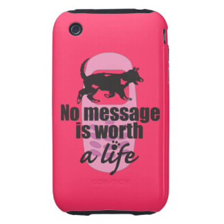 Ningún mensaje vale una vida iPhone 3 tough carcasas