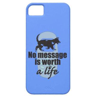 Ningún mensaje vale una vida iPhone 5 fundas