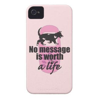 Ningún mensaje vale una vida iPhone 4 cobertura