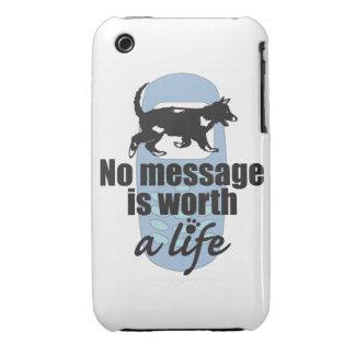 Ningún mensaje vale una vida iPhone 3 Case-Mate cobertura