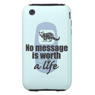 Ningún mensaje vale una vida iPhone 3 tough funda