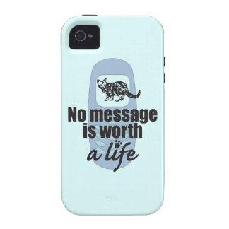 Ningún mensaje vale una vida vibe iPhone 4 funda