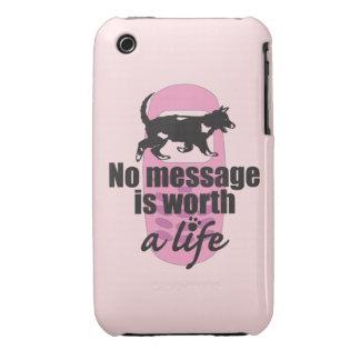 Ningún mensaje vale una vida iPhone 3 Case-Mate fundas