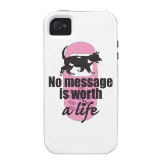 Ningún mensaje vale una vida Case-Mate iPhone 4 funda