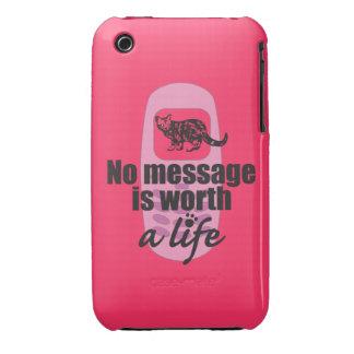 Ningún mensaje vale una vida iPhone 3 cobreturas