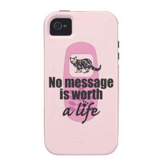 Ningún mensaje vale una vida iPhone 4 carcasas