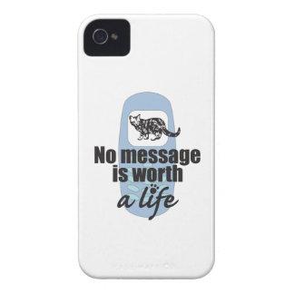 Ningún mensaje vale una vida iPhone 4 Case-Mate cobertura