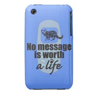 Ningún mensaje vale una vida iPhone 3 Case-Mate protector