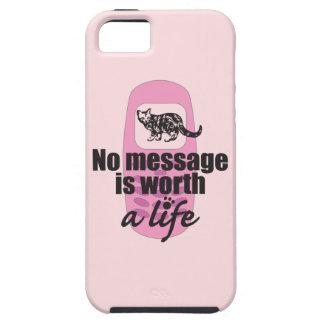 Ningún mensaje vale una vida iPhone 5 Case-Mate cobertura