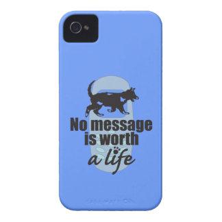 Ningún mensaje vale una vida iPhone 4 cárcasas