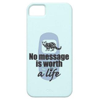 Ningún mensaje vale una vida iPhone 5 Case-Mate carcasa