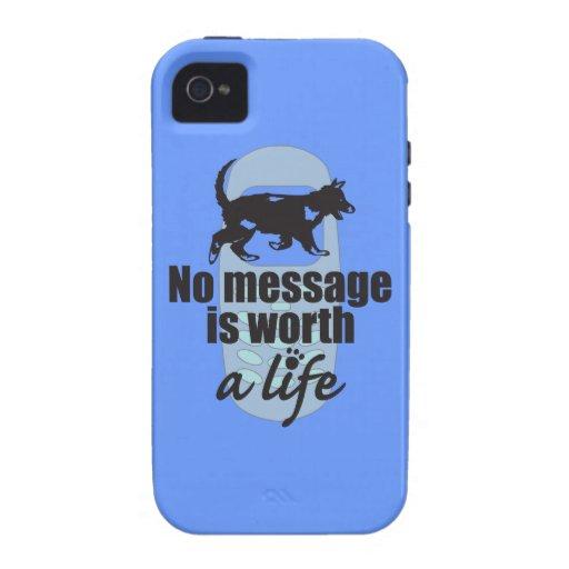 Ningún mensaje vale una vida iPhone 4/4S carcasas