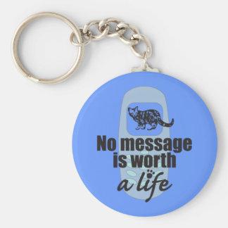 Ningún mensaje vale una vida llaveros