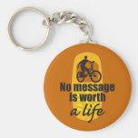 Ningún mensaje vale una vida llavero