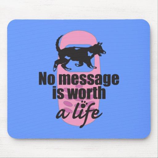 Ningún mensaje vale una vida tapete de raton