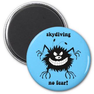 ningún miedo skydiving iman de frigorífico