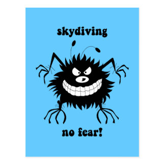 ningún miedo skydiving tarjetas postales