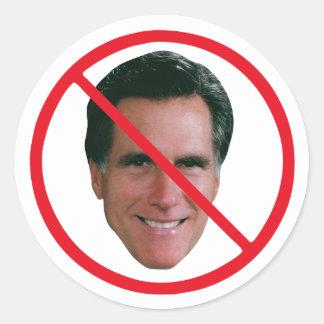 Ningún Mitt Romney Pegatinas Redondas