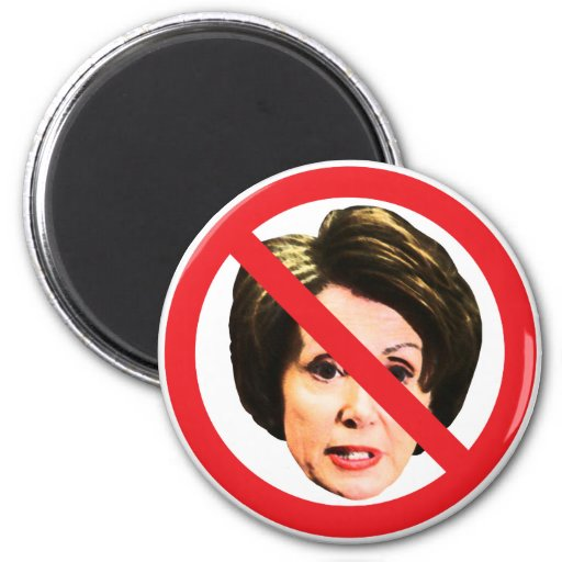 Ningún Nancy Pelosi Imán Redondo 5 Cm