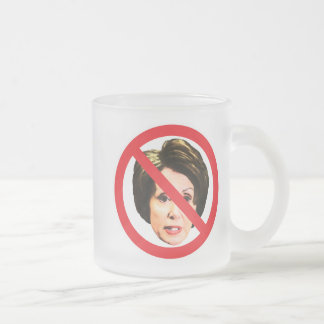 Ningún Nancy Pelosi Taza De Café Esmerilada