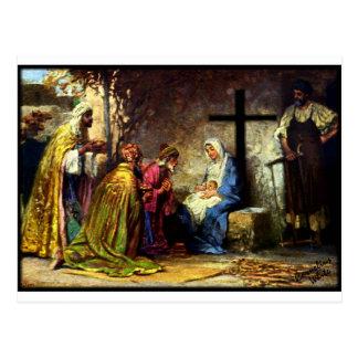 Ningún navidad sin la cruz tarjetas postales