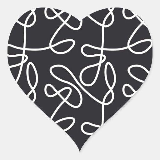 Ningún negro de la blanco pegatina en forma de corazón
