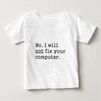 Ningún ningún arreglo su regalo de la tecnología playera de bebé