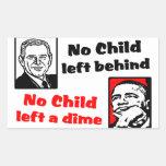 ¡Ningún niño dejó una moneda de diez centavos! Pegatinas