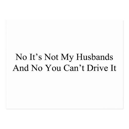 Ningún no es mis maridos y ningún usted no puede tarjeta postal