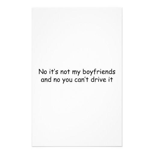 Ningún no es mis novios y ningún usted no puede co  papeleria